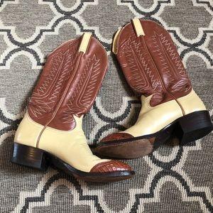Tony Lama Ostrich Cowboy Western Boot